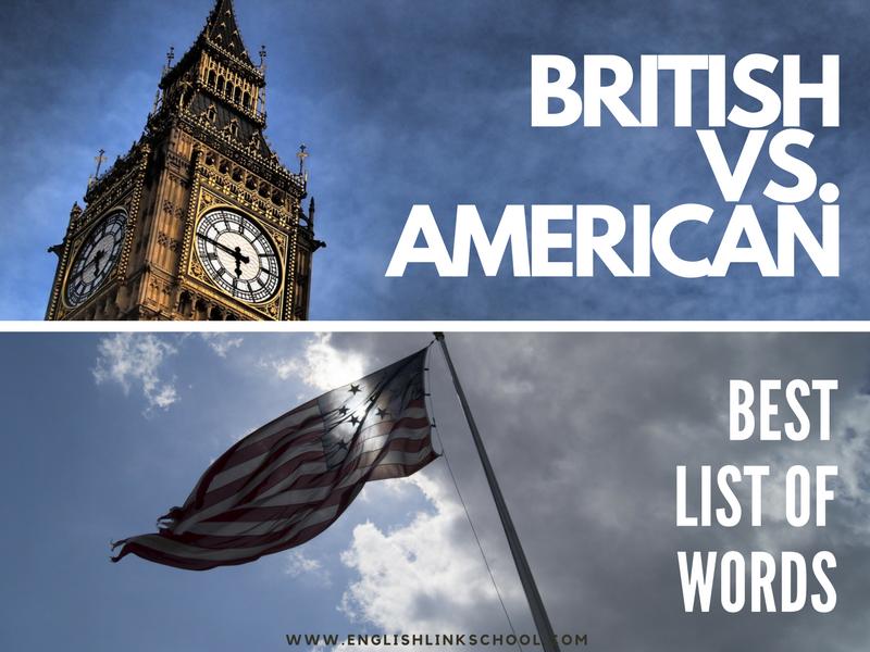 BRISTISH VS. AMERICAN ¿diferencias?